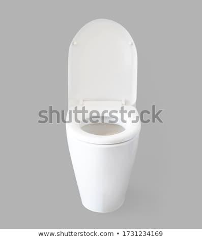 Toilet kom geïsoleerd witte badkamer bad Stockfoto © ozaiachin