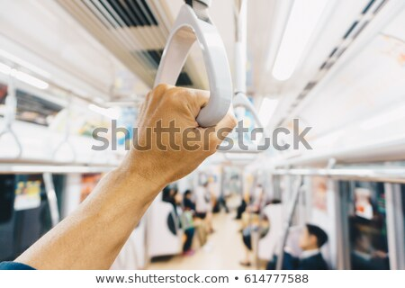 Stock photo: busy people subway