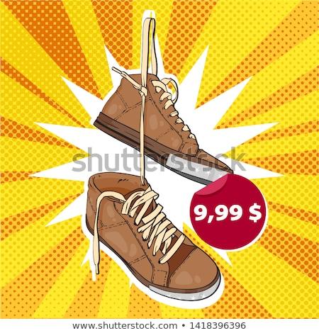 ayakkabı · eski · asılı · tel · yalıtılmış - stok fotoğraf © stevanovicigor