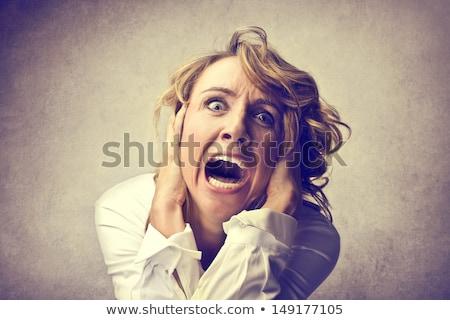 Rabbioso donna bionda bianco donna rabbia Foto d'archivio © wavebreak_media