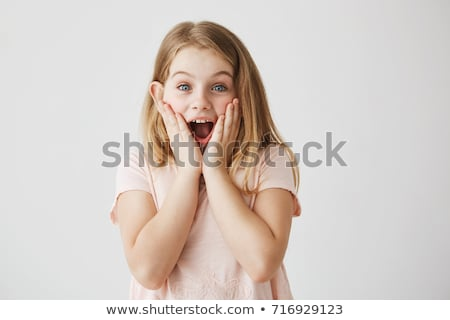 Happy Little Girl After Receiving Birthday Present Stock photo © dash