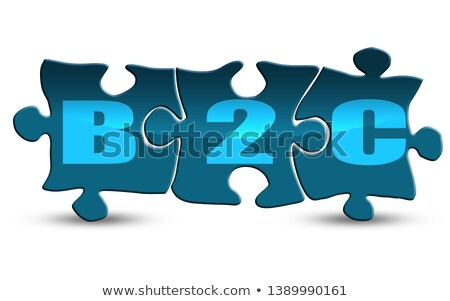 B2C - White Word on Blue Puzzles. Stock photo © tashatuvango