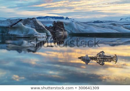 Ghiacciaio mezzanotte Islanda estate panorama mare Foto d'archivio © elxeneize