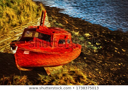 Prow of rescue boat on the sea shore Stock photo © marekusz