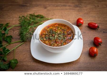 zupa · warzyw · mięsa · zdrowia · tablicy · posiłek - zdjęcia stock © fanfo