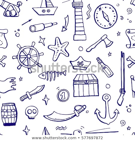 coin skull pirate and hand drawn icon stock photo © netkov1