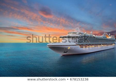 Croisière illustration bébé enfant bleu bateau Photo stock © adrenalina