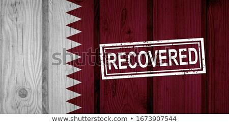 штампа Катар флаг изображение оказанный Сток-фото © tang90246