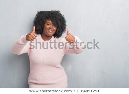 ritratto · felice · african · teen · girl · sveglia - foto d'archivio © deandrobot