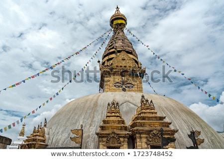 Nepal görmek kare Bina dünya dağ Stok fotoğraf © dutourdumonde