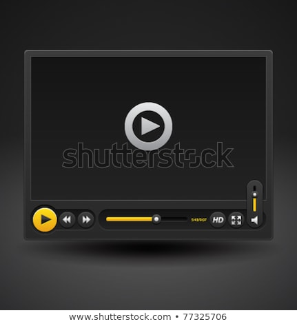 Video Geel vector icon knop ontwerp Stockfoto © rizwanali3d