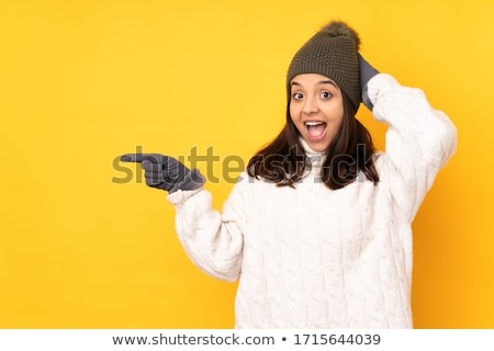 Happy Christmas girl. Stock photo © Kurhan
