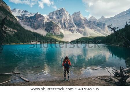 Camping montanas primavera paisaje hermosa cielo Foto stock © Kotenko