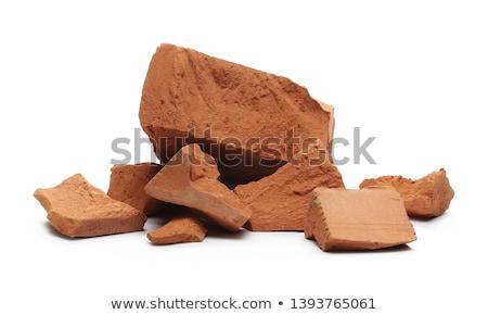 ruw · gebroken · baksteen · geïsoleerd · witte · vlag - stockfoto © michaklootwijk