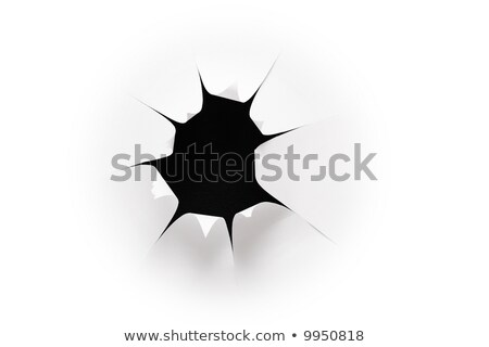 the sheet of paper with the cut hole against the black background 2 stock photo © Paha_L