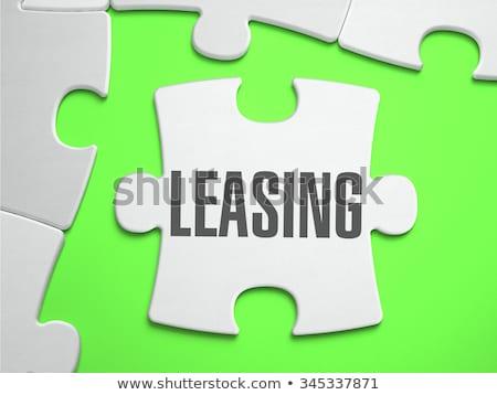 Leasing brakujący sztuk jasne zielone Zdjęcia stock © tashatuvango