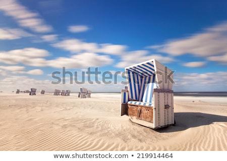 Zee strand zicht illustratie stoel zon Stockfoto © get4net