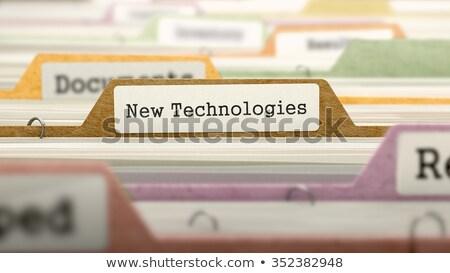 New Technologies - Folder Name in Directory. Stock photo © tashatuvango