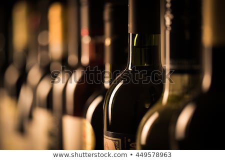 Vin bouteilles rack alimentaire stock stockage Photo stock © pixpack