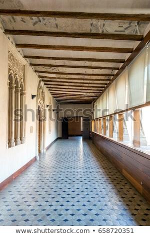 Zaragoza Alcazar Corridor Stok fotoğraf © vichie81