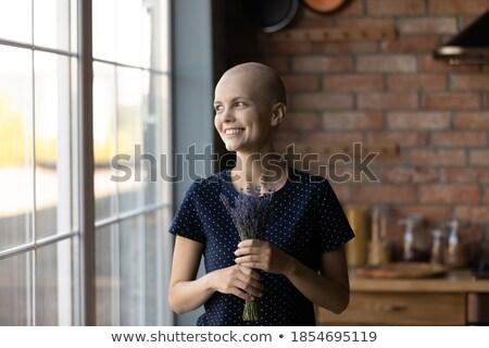 mulher · em · pé · café · mulher · jovem · arte - foto stock © deandrobot