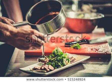 Carne plato adornar dibujo pieza Foto stock © kjolak