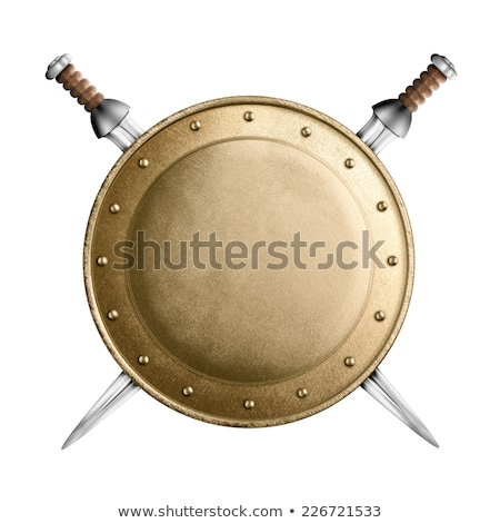 Gladiator with sword isolated on white Stock photo © Elnur