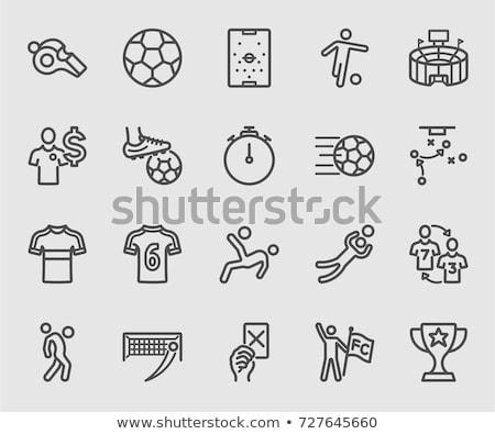 セット · アイコン · サッカー · プレーヤー · 長い · 対角線 - ストックフォト © ayaxmr