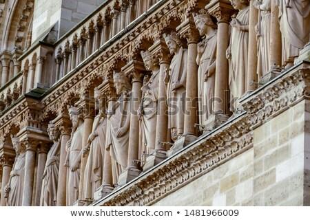 Architettura dettagli gothic cattedrale Parigi Foto d'archivio © dariazu