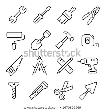 flat design icon of hand saw stock photo © angelp