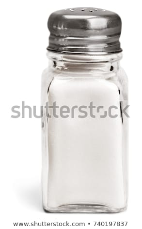 Zout shaker tabel glas Stockfoto © Digifoodstock