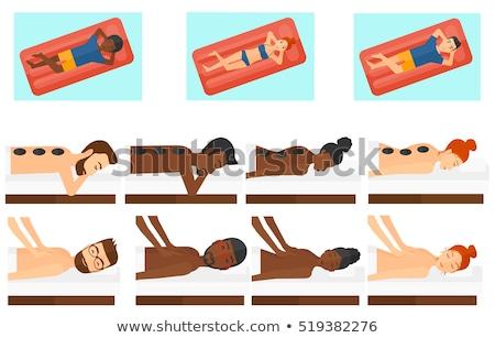 vrouw · ultrageluid · massage · vector · lichaam · behandeling - stockfoto © rastudio