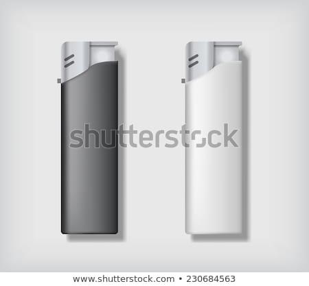 Dois preto e branco projeto fundo preto Foto stock © pakete
