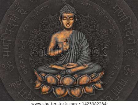 Buddha mandala mediteren kleurrijk silhouet asian Stockfoto © hpkalyani