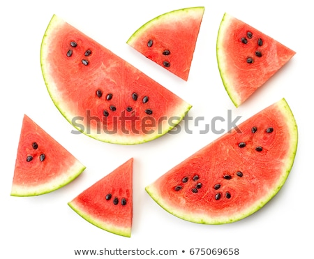 watermelon slices top view stock photo © stevanovicigor