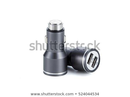 Black USB electronics device car charger Stock photo © ozaiachin
