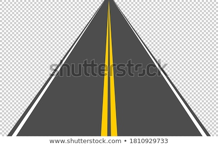 Abstract drawing of winding highway leading to the horizon vecto Stock photo © tuulijumala