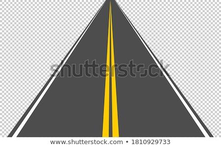 soyut · asfalt · yol · yalıtılmış · beyaz · sokak - stok fotoğraf © tuulijumala