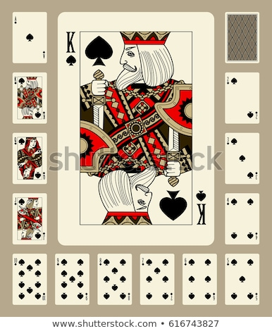 Spade poker card in vintage style, vector illustration Stock photo © carodi