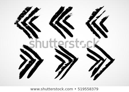 végtelenített · firka · nyilak · fekete · átló · irányítás - stock fotó © pakete