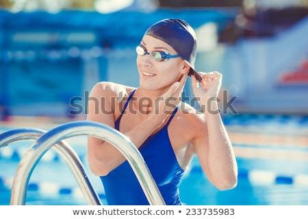 Boné óculos de proteção ilustração homem Foto stock © bluering