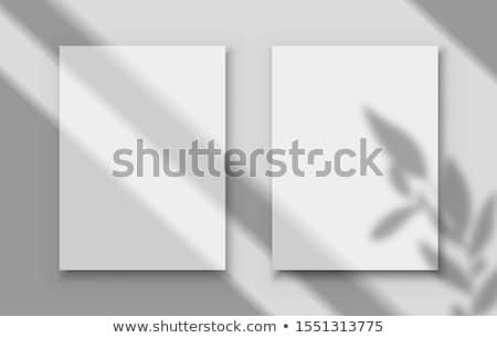 pôsteres · modelo · papel · exibir · imprimir - foto stock © anna_leni