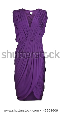 woman in purple dress isolated on white stock photo © elnur