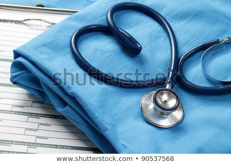 Blue nurse files Stock photo © bluering