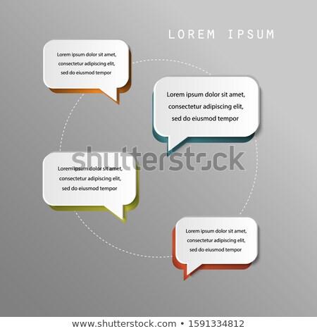 Cztery opcje projektu czat bańki stylu Zdjęcia stock © SArts