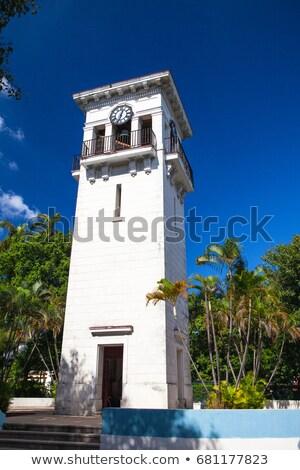 администрация · здании · часы · башни · фонтан - Сток-фото © capturelight
