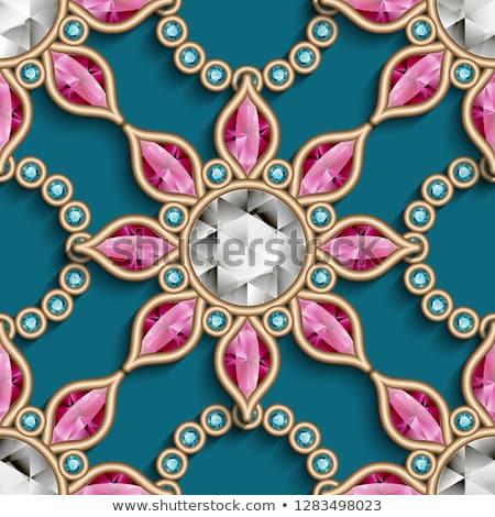 Diamond stone seamless wallpaper, vector illustration Stock photo © carodi
