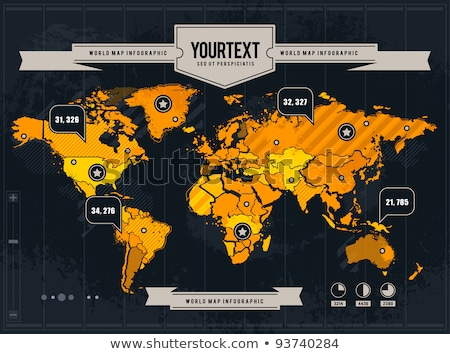 military infographic banner with world map vector stock photo © robuart