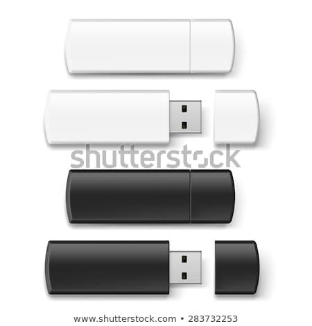 Zdjęcia stock: Usb · flash · pamięć · odizolowany · biały · pióro