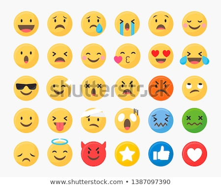 Angry emoji and angel emoji Stock photo © wavebreak_media